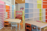 Classroom storage 'in linea'