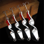 Rotating Metal Spinner Spoon Fishing Lure - 4 PCS Set