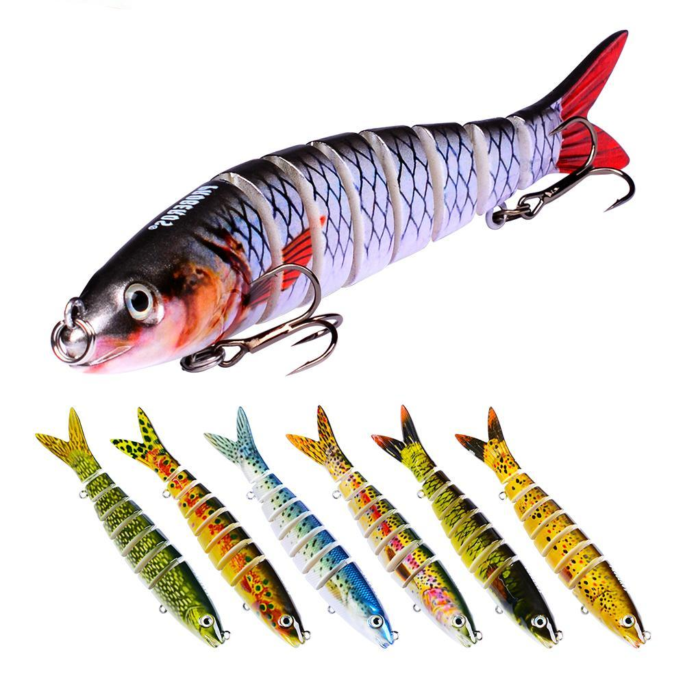 1pc 8 Sections Fishing Lure