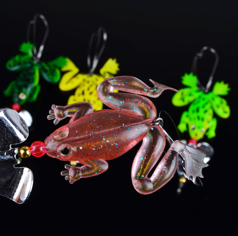 4PCS Rubber Top Water Frog Fishing Lure