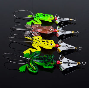 8PCS Bundle Spinner Frog Fishing Lure