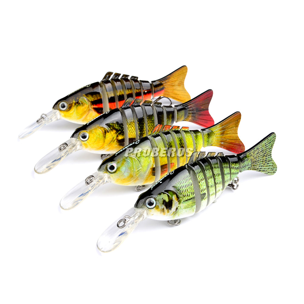 4pc-lot 7 Sections Fishing Lure
