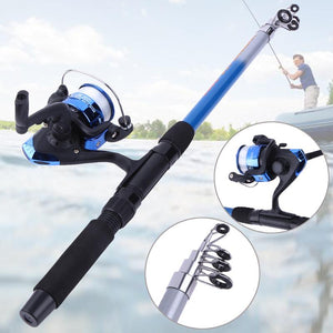 All in One Fishing Gear Combo (Rod+Reel+Hooks+Float+Much More)