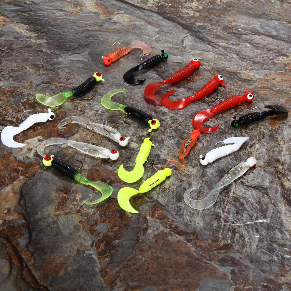 Soft Fishing Lure Set - 17 pcs