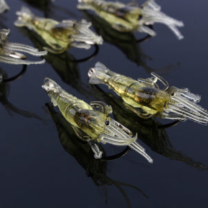 Lifelike Shrimp Baits - 10 pcs