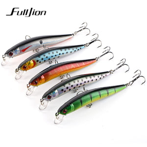3D Eyed Minnow Wobblers Fishing Lures