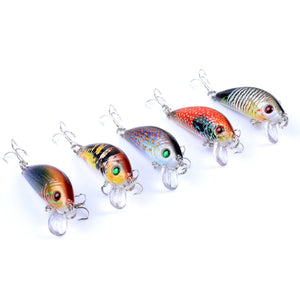 5 Piece Wobble Crankbait Set