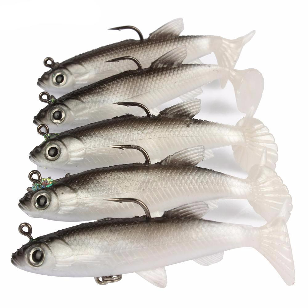 Lifelike Soft Swim Bait 5 PCS