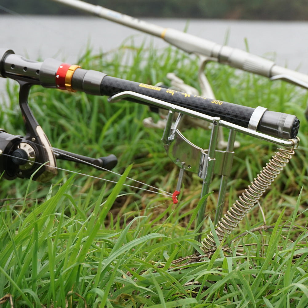Automatic double spring rod holder fishing fire for Spring loaded fishing rod holder