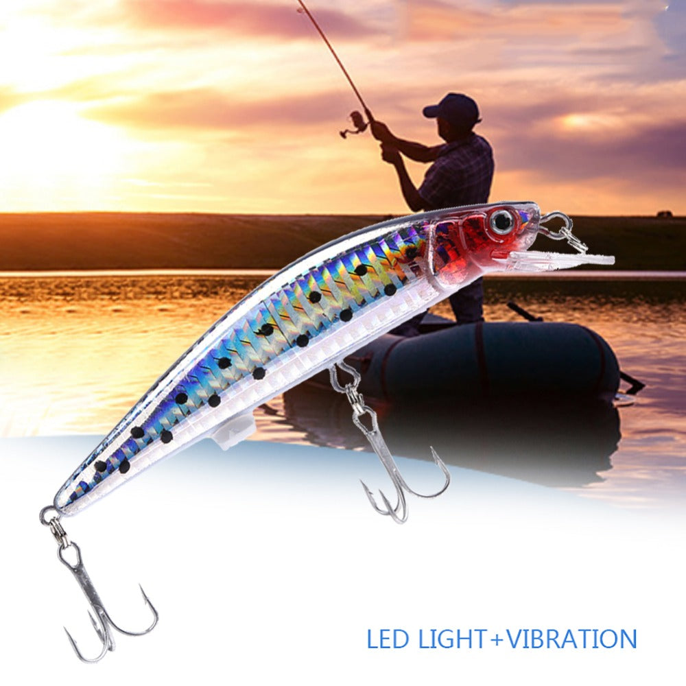 Rechargeable LED Twitching Fish Lure