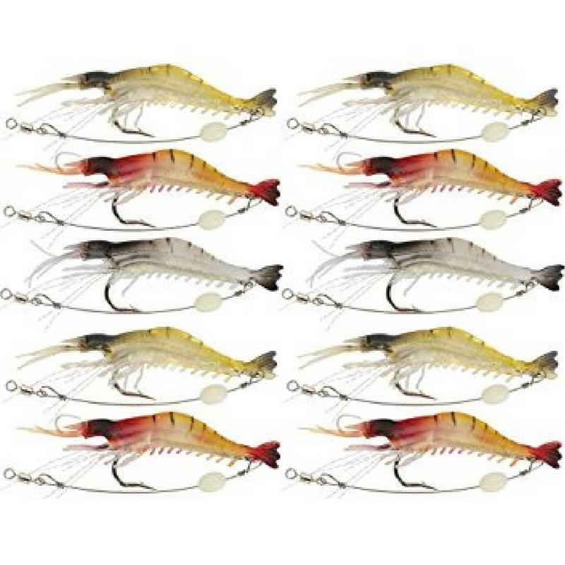SPECIAL BUNDLE DEAL 15 PCS SET of Lifelike Luminous Shrimp Lure