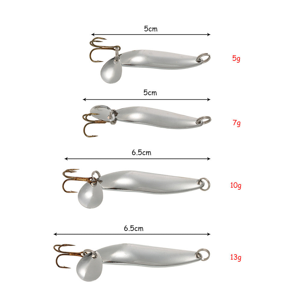 Metal Sequins Fishing Lure - 4 Pcs Set