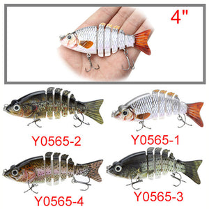 4 Inch Lifelike Fishing Lure with 6 joints