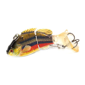 Colorful Jointed Fishing Lure - 2 Segments