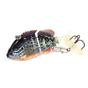 3 & 5 PCS Bundle Pack of Colorful Jointed Fishing Lure - 2 Segments