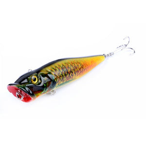 4PCS Pack of Popper Fishing Lure - Topwater Lure