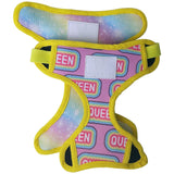 Reversible dog harness: galactic rainbow/I'm a queen - J'dore