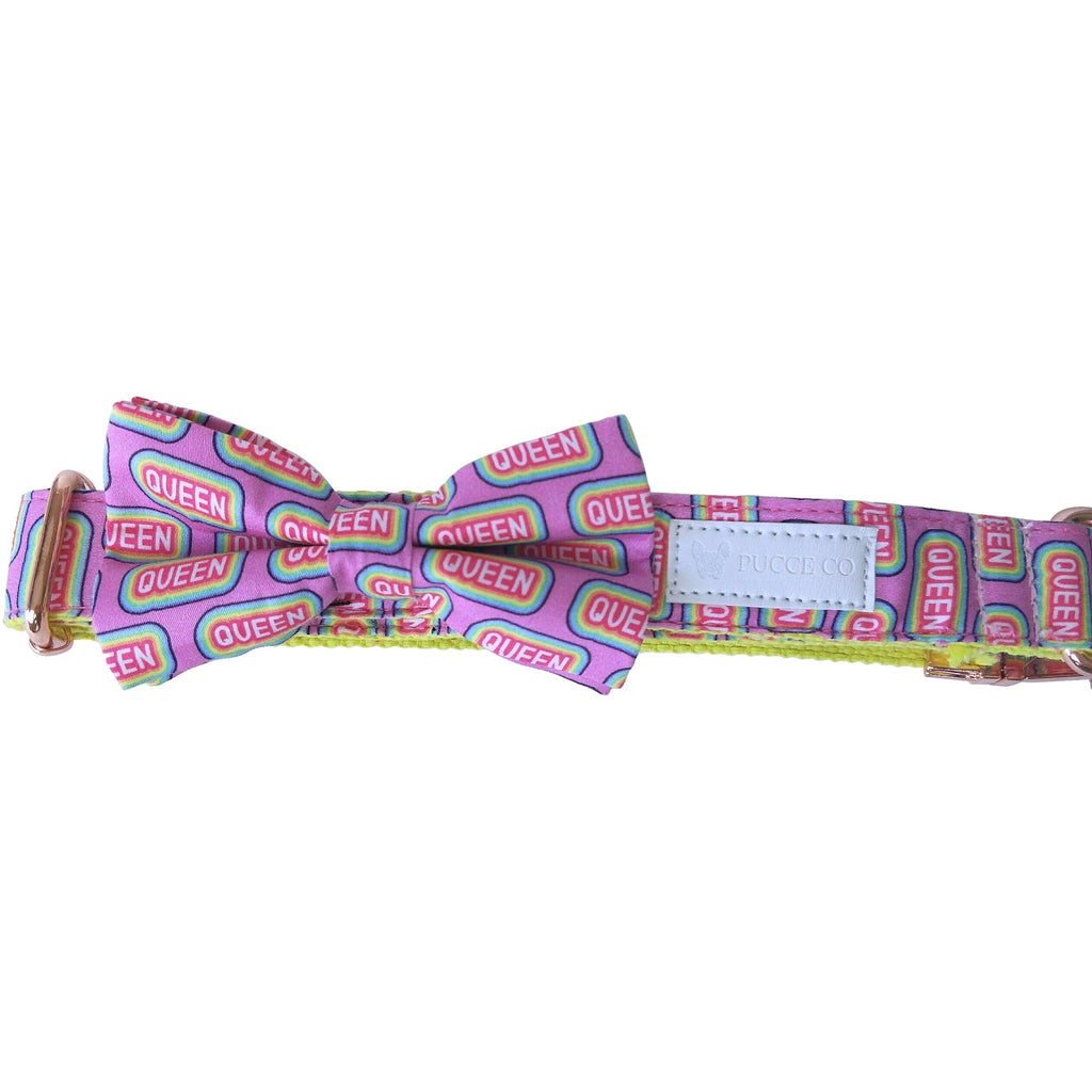 Dog collar & bow-tie: I'm a queen - J'dore
