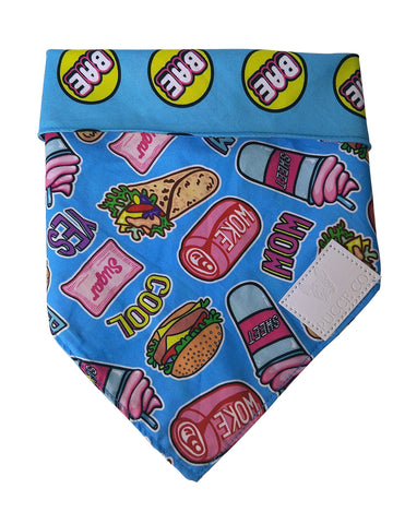Reversible dog bandana: Sweet like sugar bae - J'dore