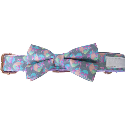 Dog collar & bow tie: Flip the bird - J'dore