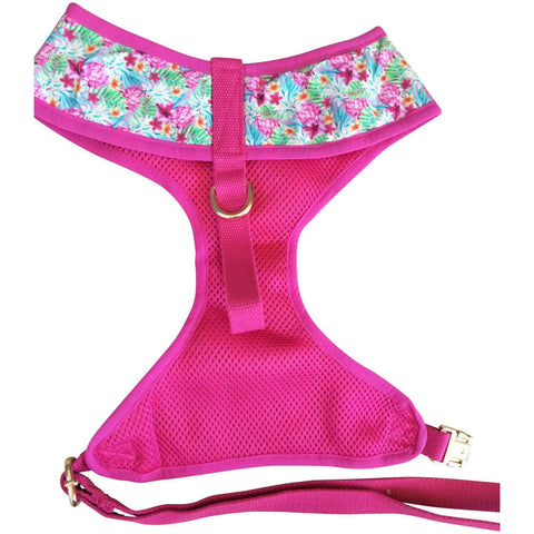 Pink tropicana dog harness - J'dore