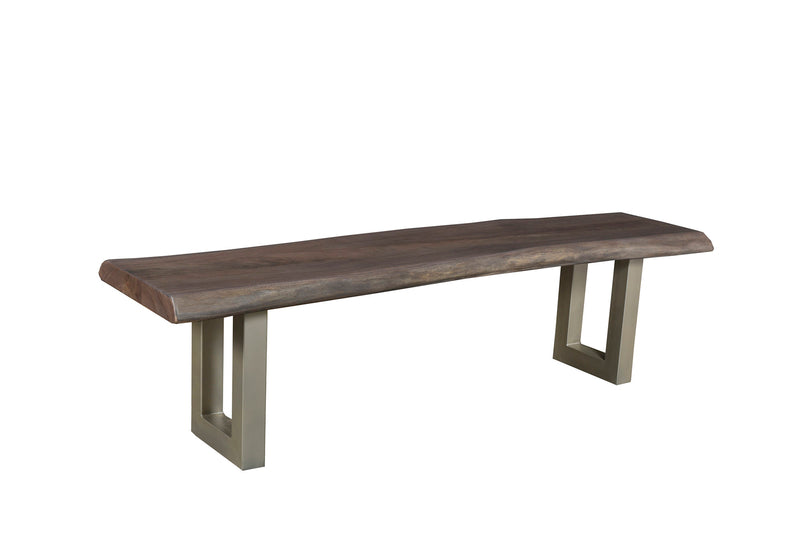 LiveEdge Calcutta Dining Bench - Slate Stain - 2003-2018 Homestead Furniture All Rights Reserved
