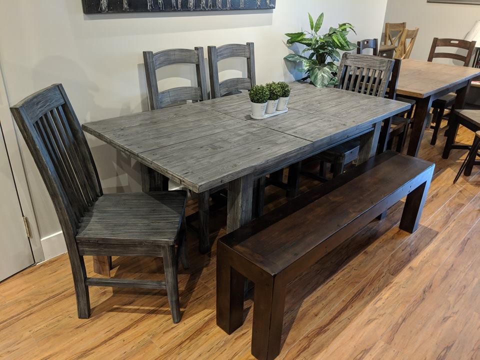 Settler Dining Table - Charcoal Ash - 2003-2018 Homestead Furniture All Rights Reserved