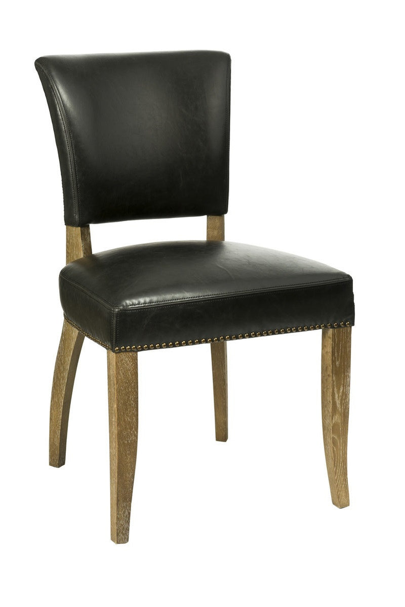 Luther Dining Chair - Black Bicast Leather - 2003-2018 Homestead Furniture All Rights Reserved