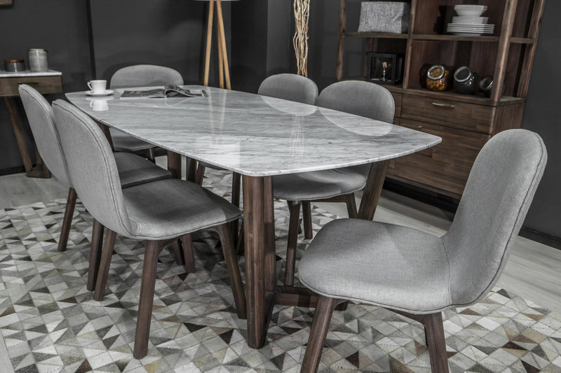 "Carrara Marble Dining Table - 36"" x 72"" - 2003-2018 Homestead Furniture All Rights Reserved"