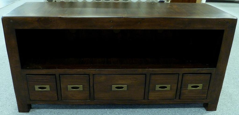 Post and Rail - The English Walnut Collection - Media Console - 2003-2018 Homestead Furniture All Rights Reserved