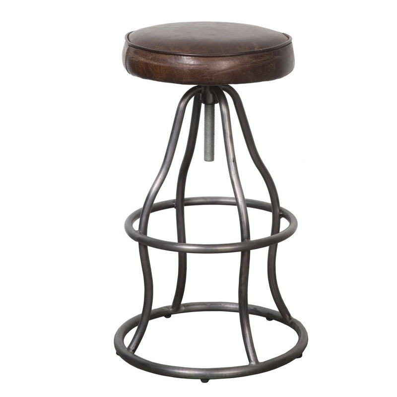 Bowie Bar Stool - Vintage Brown Leather - 2003-2018 Homestead Furniture All Rights Reserved
