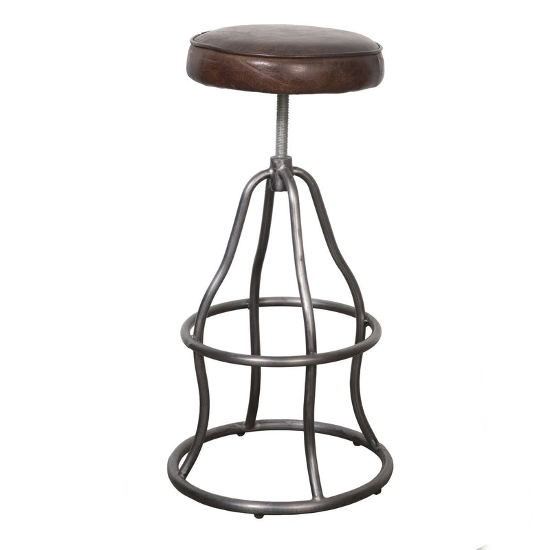 Bowie Bar Stool - Brown Vintage Leather - 2003-2018 Homestead Furniture All Rights Reserved