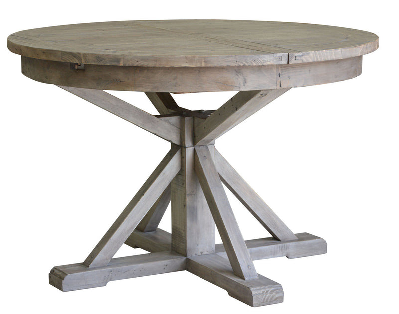 Irish Coast Round Extension Dining Table - Sundried - 2003-2018 Homestead Furniture All Rights Reserved