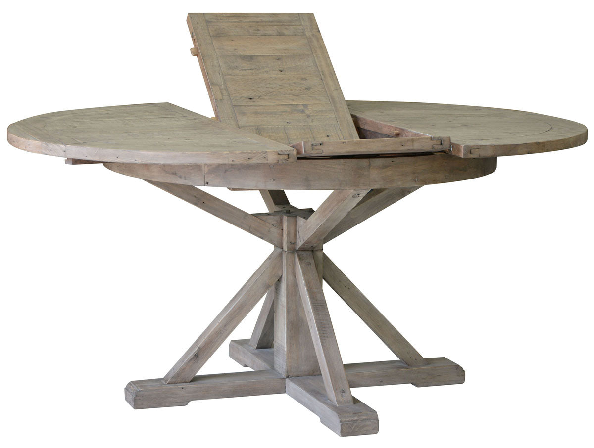 Irish Coast Round Extension Dining Table > with Butterfly Leaf   Sundried