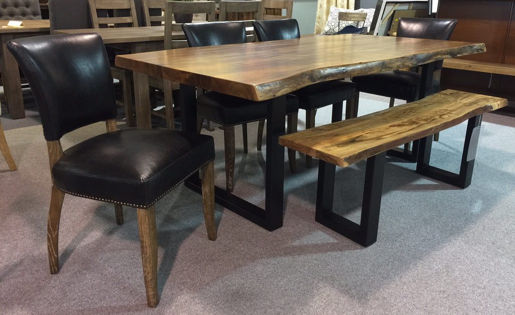 "Calcutta LiveEdge Dining Table ~ 2.3"" Thick Top - 2003-2018 Homestead Furniture All Rights Reserved"