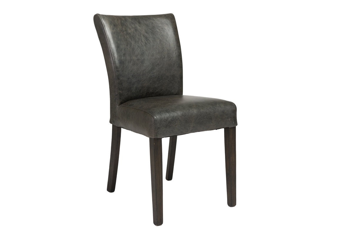 Marlow Dining Chair   Black Top Grain Leather