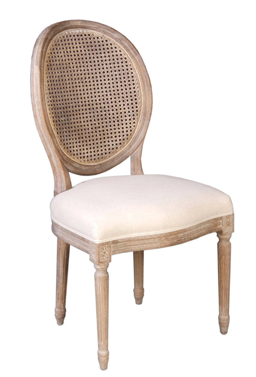 Napoleon Chair w/ Cane Back - Antique Linen - 2003-2018 Homestead Furniture All Rights Reserved