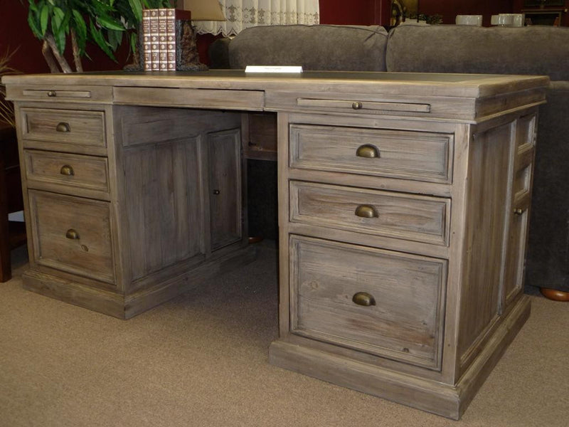 Lifestyles - Settler Double Pedestal Desk - Sundried - 2003-2018 Homestead Furniture All Rights Reserved
