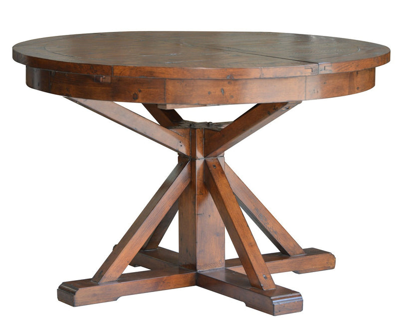 Irish Coast Round Extension Dining Table - African Dusk - 2003-2018 Homestead Furniture All Rights Reserved