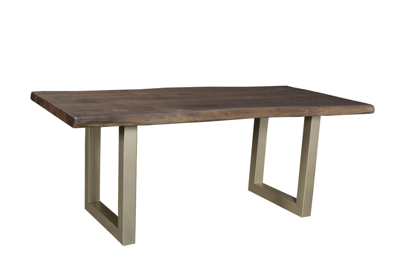 LiveEdge Calcutta Dining Table Nickel Base ~ Slate Matte Top (3 Sizes available) - 2003-2018 Homestead Furniture All Rights Reserved