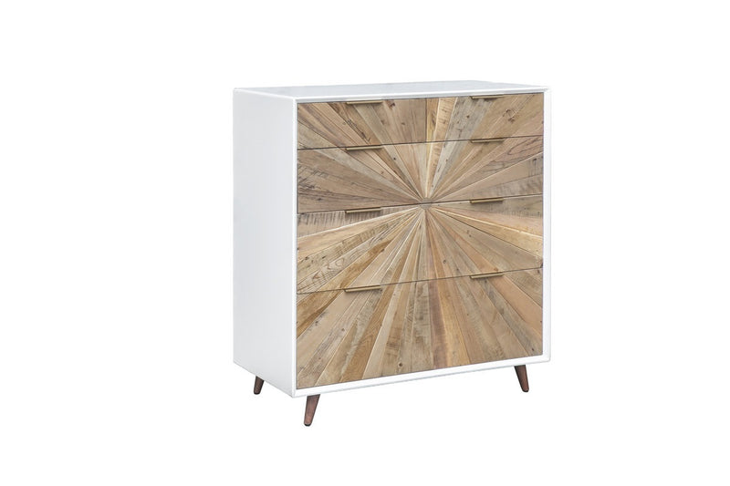Casablanca 5 Drawer Chest - Rustic Natural / White Lacquer - 2003-2018 Homestead Furniture All Rights Reserved