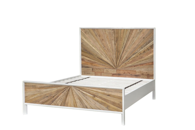 Casablanca Queen Bed - Natural Rustic / White Lacquer - 2003-2018 Homestead Furniture All Rights Reserved