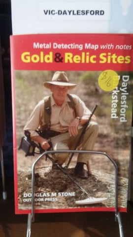 Metal detecting Gold and Relic map Daylesford Barkstead