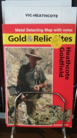 Metal detecting Gold and Relic map Heathcote Goldfield