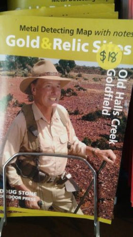 Metal detecting Gold and Relic map Old Halls Creek Goldfield