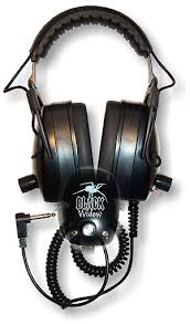 BLACK WIDOW HEADPHONES BY DETECTOR PRO