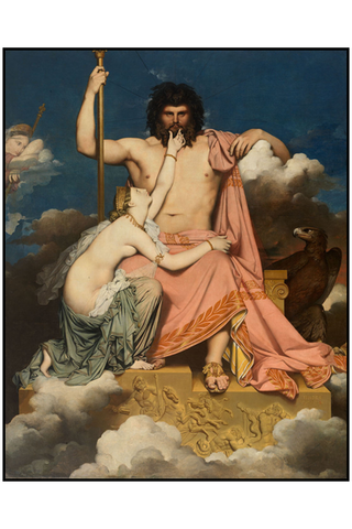 Jupiter and Thetis by Jean-Auguste-Dominique Ingres, 1811 - Musée Granet, Aix-en-Provence, France. Invocation To Jupiter. How To Manifest Money