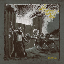 Cauldron Black Ram ‎– Slaver LP (Ye Olde Gold & Silver Filthy Lucre with Black Soot & Bone Merge Vinyl)