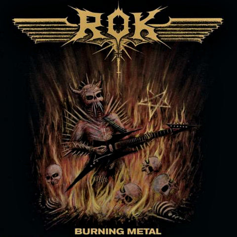 Rok  ‎– Burning Metal LP