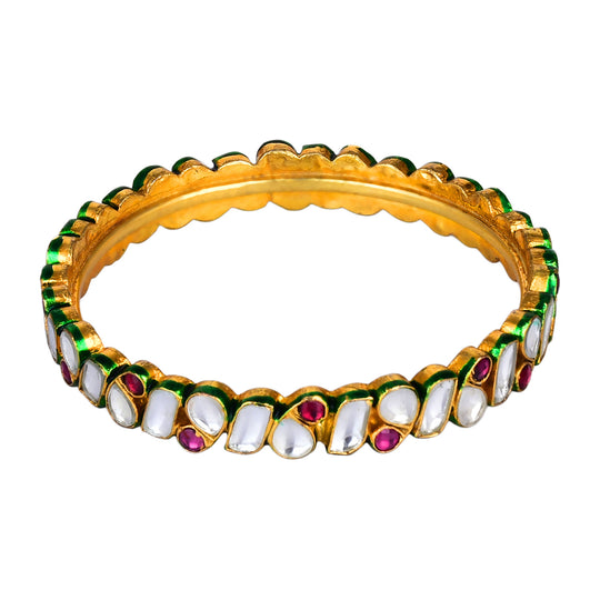 Fayon Ethnic Jewellery Multicolor Different Beads Bangle Set